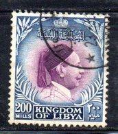 APR818 - LIBIA LYBIA 1952 , Yvert  N. 136  Usata (2380A) - Libia