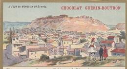 CHROMO IMAGE ) GUERIN BOUTRON Le Tour Du Monde En 84 Etapes (  Panorama D Athenes Et De L Acropole  ) (6x10.5) - Guerin Boutron