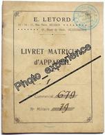 Livret Document Guerre 14-18 Aviation Airplane Military WW1 VILLACOUBLAY Yvelines 78 - Documenten