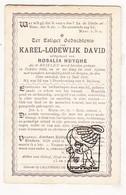 DP Karel Lodewijk David ° Brielen Ieper 1822 † 1901 X Rosalie Huyghe - Santini