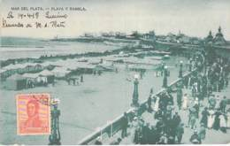 ARGENTINA Argentine - MAR DEL PLATA : Playa Y Ramblan - CPA - AMERIQUE DU SUD South America Sudamerica - Argentina