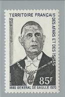 Timbre De Gaulle N° 376 Valeur 8 € - Afars Et Issas (1967-1977)