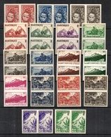 Martinique Maury N° 232/248 En Paires Non Dentelés Neufs ** MNH. TB. A Saisir! - Martinique (1886-1947)