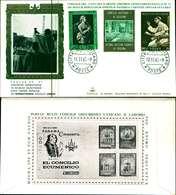 12121a)F.D.C.serie Concilio Ecumenico Vaticano II 11-11-65 SESSIONE IV-PAOLO VI - FDC