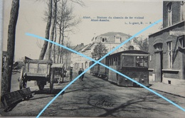 CPA AALST ALOST TRAM à Vapeur Vicinal Lijn Aalst Asse Tramway - Belgique