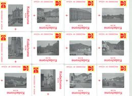 Lot De 12 Diapositives Couleurs Du Luxembourg Echternach, Esch Sur Sûre (juillet 1980) - Dias