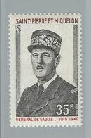 Timbre De Gaulle N° 419 - Valeur 25.50 €  Neuf Sans Trace De Charnière - St.Pierre Et Miquelon