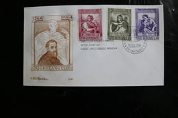Vatican Michelangelo Three Values Day Of Issue Cancel 1964 WYSIWYG  A04s - FDC
