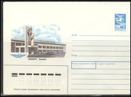 RUSSIA USSR Stamped Stationery 87-214 1987.04.21 ORENBURG Airport Aviation - 1980-91
