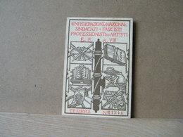 MONDOSORPRESA, TESSERA CONFEDERAZIONE NAZIONALE SINDACATI FASCITI PROFFESIONISTI ARTISTI GIORNALISTI -VENETO TRIDENTINE - Organizzazioni