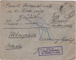 RUSSIA 1917 - CIRCULATED TO COMITÉ INTERNATIONAL DE LA CROIX ROUG - GENEVE - SUISSE - SWITZERLAND - 1917-1923 Republik & Sowjetunion
