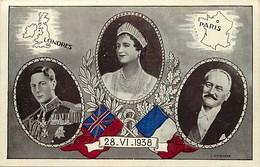 - Ref- B710- Royautés - Souverains Anglais - Carte Vendue Au Profit Des Soldats Necessiteux - Royaume Uni - Uk - - Personnages Historiques