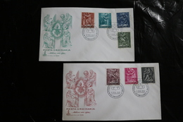 Vatican City FDC Arts And Crafts 7 Values On Two Covers Day Of Issue Cancel 1966 A04s - FDC