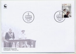 NORWAY 2016 25th Anniversary Of Reign Of King Harald V On FDC.  Michel 1903 - FDC