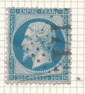 N°22 NUANCE ET OBLITERATION - 1862 Napoleone III