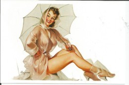 Pin Ups Of GIL ELVGREN Postcard RPPC - (242) Years 1940's,1950's And 1960's - Size 15x10 Cm.aprox. - Pin-Ups