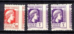 Algérie Variétés Maury N° 222 Et 223 Piquage à Cheval Neufs ** MNH. TB. A Saisir! - Algeria (1924-1962)