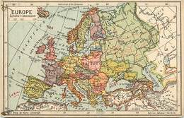 - Ref- B705- Carte Geographique Europe - Atlas De Poche Universel - Edit. Jeheber - Geneve - Suisse N°7 - - Maps