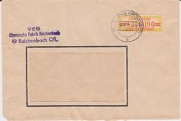 DDR Dienst B ZKD Mi 17 Bf Reichenbach Oberlausitz 1958 - Dienstpost