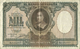 Ref. 92-130 - BIN SPAIN . 1940. 1000 Pesetas Bartolome Murillo. 1000 Pesetas Bartolome Murillo - Spanien