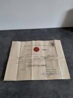 Diplôme De Donneur De Sang  Ministère Des Affaires Sociales Avec Insigne Argent 1967 - - Diplomi E Pagelle