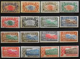 France (ex-colonies & Protectorats) Réunion (1852-1975) > 1907 N° 56 à 71 Neufs* - Neufs