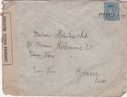 BELGIUM BELGIQUE - CENSURED COVER  - CIRCULATED   - GENEVE - SUISSE - SWITZERLAND - Sonstige