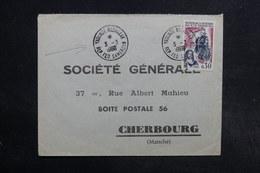 CAMEROUN - Enveloppe Commerciale Pour Cherbourg En 1966 , Affranchissement Français De Yaoundé - L 32187 - Camerun (1960-...)