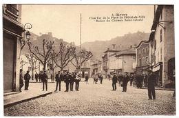 GIVORS (69) - Coté Est De La Place De L' Hôtel De Ville - Ruines Du Chateau Saint-Gérald - Ed. Henri Basuyau, Toulouse - Givors