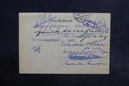 ALLEMAGNE - Carte De Correspondance En 1917 , Voir Griffes Dont Strasbourg - L 32192 - Covers & Documents
