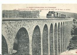 50 La Normandie Pittoresque  Fermanville  Le Viaduc Et Le Train - Frankreich