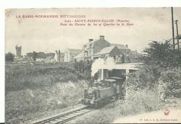 50 La Normandie Pittoresque St Pierre L'église  Quartier De La Gare Le Train - Saint Pierre Eglise