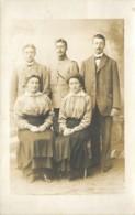 59 - HONDSCHOOTE - Carte Photo De La Famille Deblock à L'occasion D'une Permission En 1915 Pendant La 1ere Guerre - Hondshoote