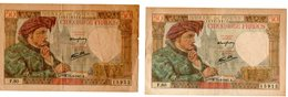 France - Lot De 2 Billets De 50 Francs Jacques Coeur 15/05/1941  B - 1871-1952 Antichi Franchi Circolanti Nel XX Secolo