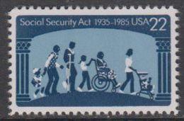 USA 1985 Social Security Act 1v ** Mnh (43119A) - Verenigde Staten