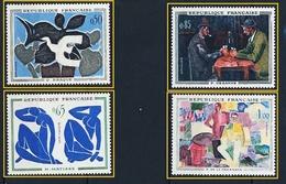 FRANCE Neuf** 1961 N° 1319/1322 TABLEAUX BRAQUE CEZANNE MATISSE DE LA FRESNAYE - Sheetlets