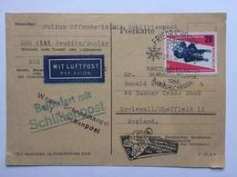 Germany DDR 1966 - Postkarte Schlittenpost: Wegen Schneemangel - Kutschenpost - Toboggan Post - [6] Democratic Republic