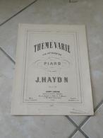 Thème Varié En Ut Majeur - Musique Classique Piano (J. Haydon) - Instruments à Clavier