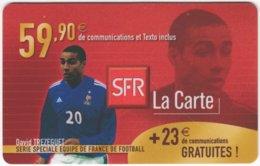FRANCE C-552 Prepaid SFR - Sport, Soccer - Used - Frankreich