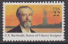 USA 1985 F.A. Bartholdi, Statue Of Liberty Sculptur 1v ** Mnh (43119C) - Verenigde Staten