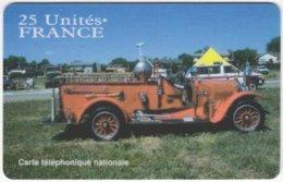 FRANCE C-580 Prepaid ATelecom - Traffic, Historic Fire Engine - Used - Frankreich