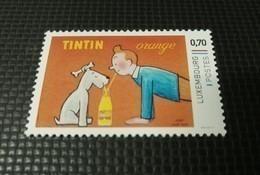 ++ Timbre Luxembourg Tintin Kuifje Milou Boisson Orange Pub ++ - Luxembourg