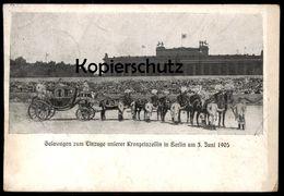 ALTE POSTKARTE BERLIN GALAWAGEN ZUM EINZUGE UNSERER KRONPRINZESSIN AM 03.06.1905 Prinzessin Princess Horses Pferde Coach - Familias Reales