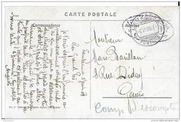 116 - 13 - Carte Caserne De La Pontaise Lausanne - Cachet à Date Lausanne Pontaise 1908 - Marcophilie