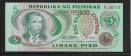 Philippines - 5 Piso - Pick N°160c - NEUF - Philippines