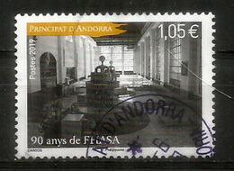 ANDORRA.FHASA/FEDA.(Forces Hidroelèctriques D'Andorra) 90 Ans. Un Timbre Oblitéré , 1 ère Qualitè, 2019 - Used Stamps