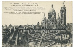 CARTE POSTALE / PARIS SACRE COEUR / TRAIN A CREMAILLERE/ ESCALIER MONUMENTAL / 1929 - Sacré Coeur