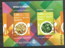 ANDORRA. La Gastronomie (ses Spécialités) Xicoies & Escudella (Salade De Pissenlits & Ragoût).B-F Oblitéré 1 ère Qualité - Used Stamps