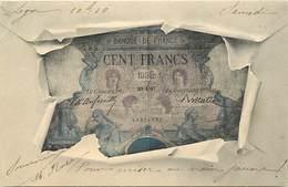 - Ref- B674 - Monnaies - Représentation D Un Billet De  100 Francs - Banque De France - Billets Monnaies - Monnaies (représentations)