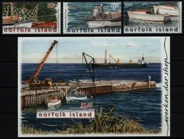 Norfolk-Insel 2004 - Mi-Nr. 870-872 & Block 46 ** - MNH - Schiffe / Ships - Norfolkinsel